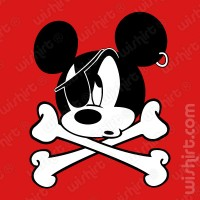 T-shirt Mickey Head Pirate