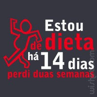 Estou de Dieta T-shirt