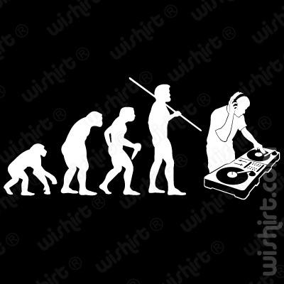 T-shirt Evolution DJ