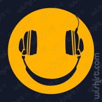 T-shirt Smiley Headphones