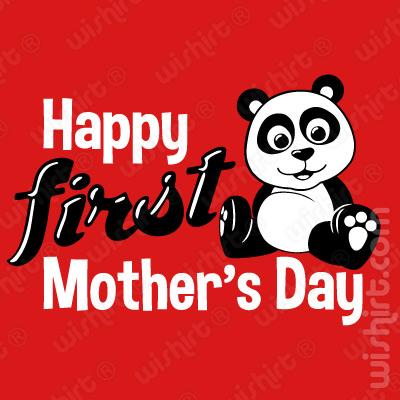 T-shirt de Bebé Happy First Mother's Day