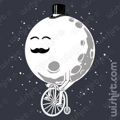 T-shirt Moon Bicycle