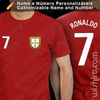 Portugal Mundial Futebol T-shirt