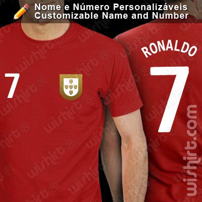 T-shirt Portugal Mundial Futebol