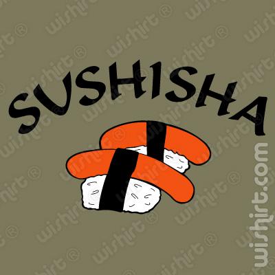 T-shirt Sushisha, sushi do pobre