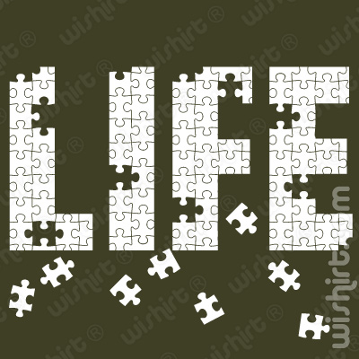 T-shirt Life is a Puzzle