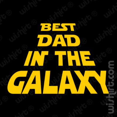 T-shirt Best Dad in the Galaxy - Prenda para o Pai
