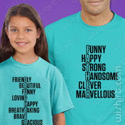 T-shirts Pai e Filha a combinar Father e Daughter - Prenda Dia do Pai
