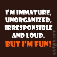 T-shirt I'm Immature