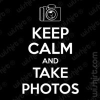 T-shirt Keep calm take photos