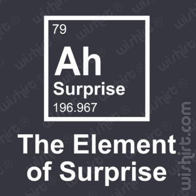 T-shirt Element of Surprise