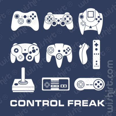 T-shirt Control Freak, Game controllers
