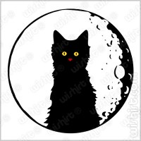 T-shirt Moon Cat