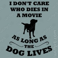 I don't care who dies T-shirt