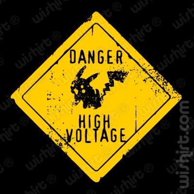 T-shirt Pokémon Pikachu Danger High Voltage