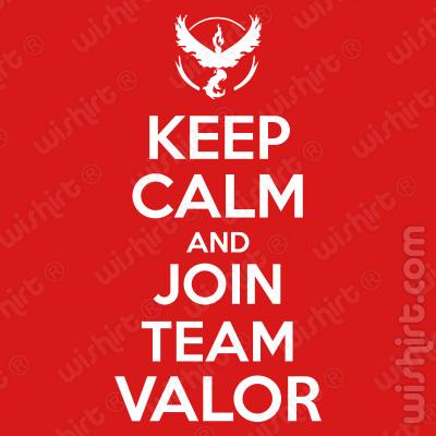 T-shirt Pokémon Keep Calm and Join Team Valor