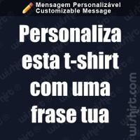 T-shirt Personalizável com Frase