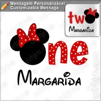 T-shirt Bebé Minnie One Two