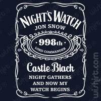 T-shirt Night Watch Castle Black