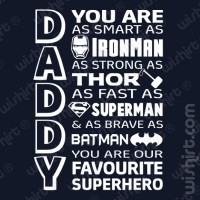 T-shirt Daddy Super Hero