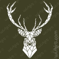 T-shirt Geometric Deer Head