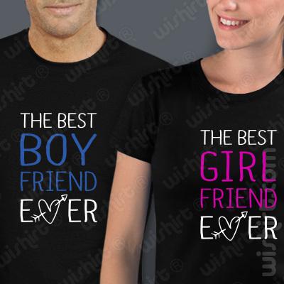 Conjunto 2 t-shirts The best Boy Friend/Girl Friend Ever. Conjunto de 2 tshirts edição especial São Valentim, Homem e Mulher