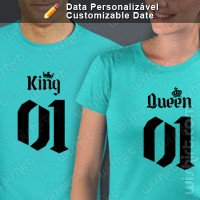 T-shirts King Queen Data