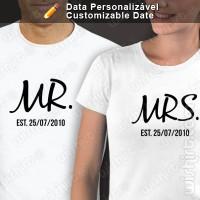 T-shirts Mr & Mrs Est