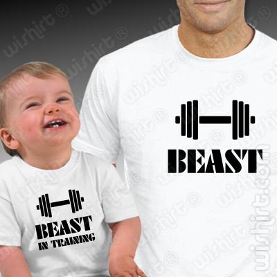 T-shirts a combinar para Pai e Filho Beast Training - Dia do Pai