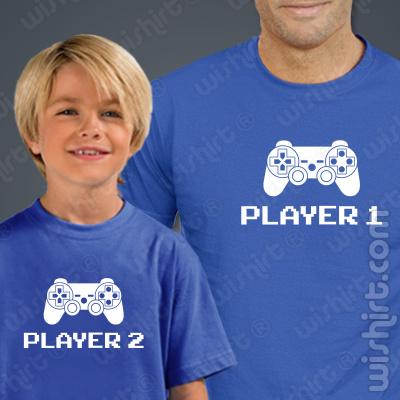 T-shirts Player - Criança, Conjunto de uma t-shirt de homem + uma t-shirt de criança