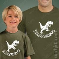 T-shirts Daddysaurus Kidsaurus