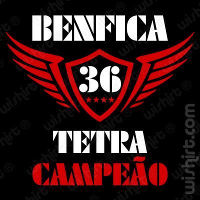 T-shirt Benfica Tetra Campeão