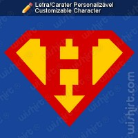 T-shirt Superman Letra/Carater