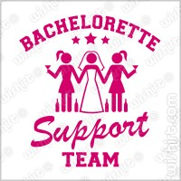 T-shirt Bachelorette Support Team