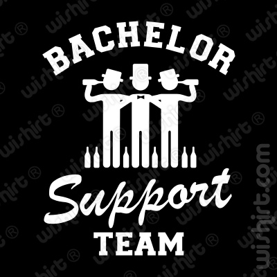 T-shirt Bachelor Support Team