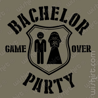 T-shirt Bachelor Party Game Over
