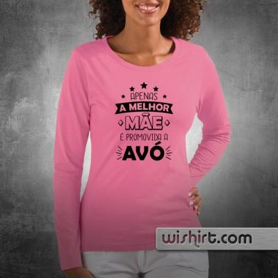 2e15a556d305 T-shirt Apenas o melhor Pai/Mãe é promovido a Avô/Avó | Prendas Dia dos Avós