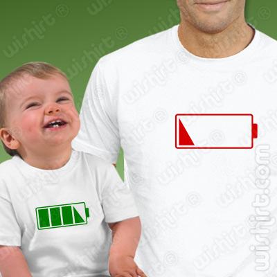 T-shirts a combinar para Pai e Bebé | Sem Bateria | Prenda Dia do Pai