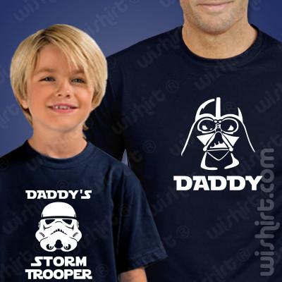 T-shirts a combinar Pai e Filho Daddys Storm Trooper - Dia do Pai