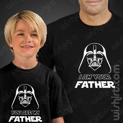 Conjunto de t-shirts Pai e Filho I am Your Father - Darth Vader