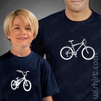 Conjunto de duas t-shirts para Pai e Filho Bikes - Prenda para o Pai