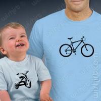 T-shirts Bikes Pai Filho Bebé
