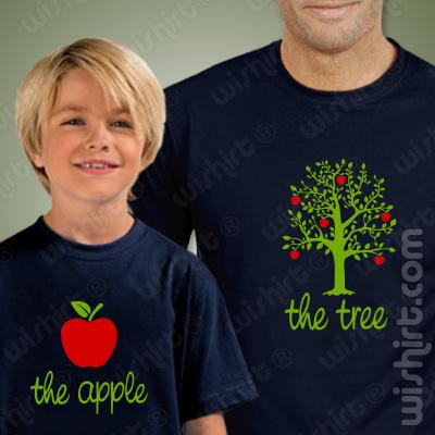 T-shirts Pai e Filho a Combinar The Tree The Apple, Prenda Dia do Pai