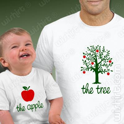T-shirts a combinar The Tree The Apple Bebé, Prenda Dia do Pai