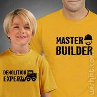 T-shirts Master Builder Criança