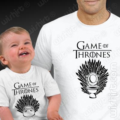 T-shirts a combinar para Pai e Bebé Game of Thrones - Dia do Pai