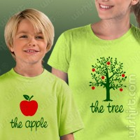 T-shirts The Tree The Apple Mãe - Criança