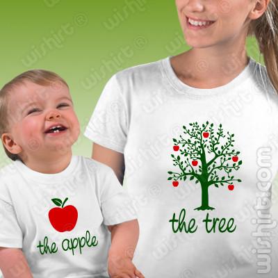 T-shirts a combinar The Tree The Apple Mãe Bebé, Presente Dia da Mãe