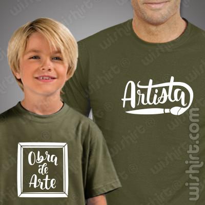 T-shirts para Pai Artista e Filho Obra de Arte - Prendas para o Pai