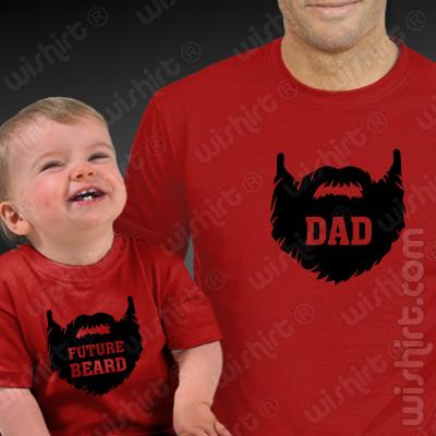 T-shirts a combinar para Pai e Bebé Future Beard - Dia do Pai